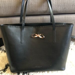 Ted Baker Loop Bow Large Leather Tote Bag